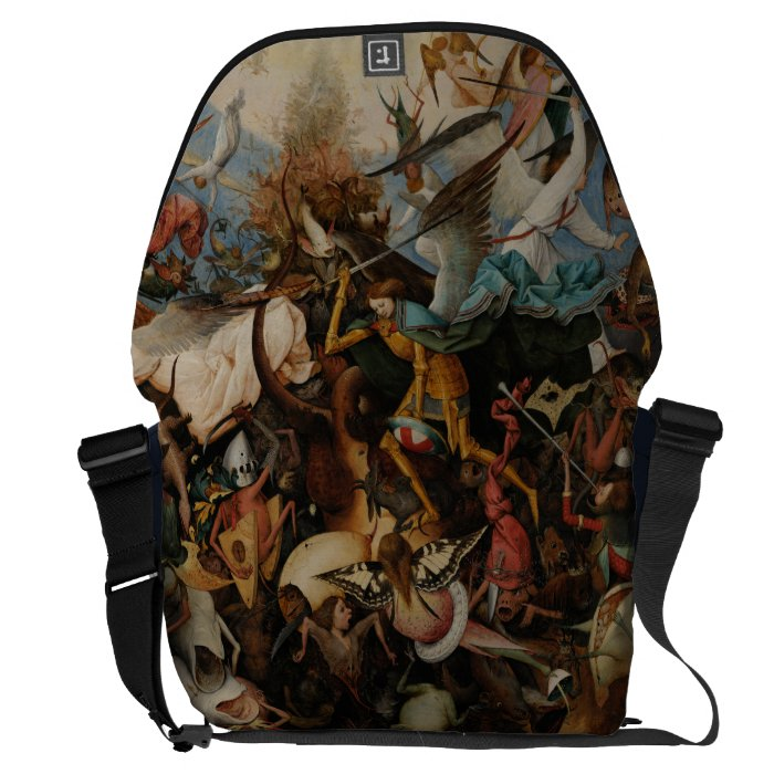 Fall of the Rebel Angels by Pieter Bruegel Courier Bag