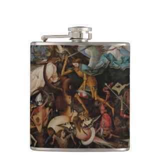 Fall of the Rebel Angels by Pieter Bruegel Hip Flasks
