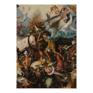 Fall of the Rebel Angels by Pieter Bruegel 5x7 Paper Invitation Card
