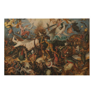 Fall of the Rebel Angels by Pieter Bruegel Large Wood Prints