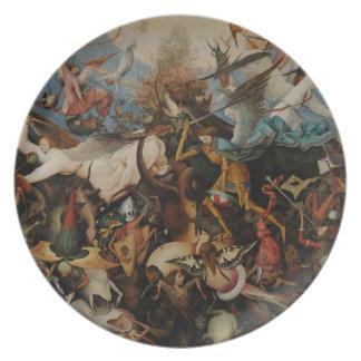Fall of the Rebel Angels by Pieter Bruegel Melamine Plate