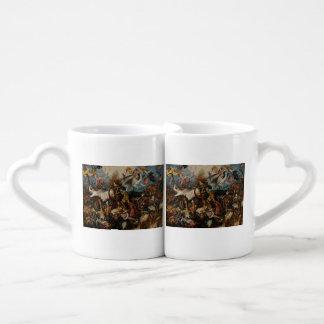 Fall of the Rebel Angels by Pieter Bruegel Lovers Mug Sets