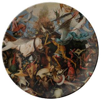 Fall of the Rebel Angels by Pieter Bruegel Porcelain Plate
