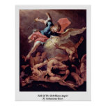 Fall Of The Rebellious Angels By Sebastiano Ricci Poster