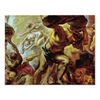 Fall Of The Titans By Rubens Peter Paul 4.25x5.5 Paper Invitation Card