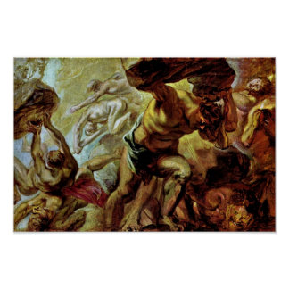 Fall Of The Titans By Rubens Peter Paul Poster