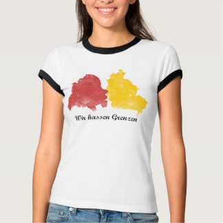 Fall of the wall - we hate borders t shirt