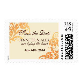 Fall Ombre Wedding Postage