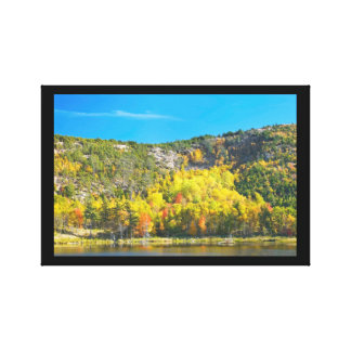 Fall On Beaver Dam Pond Acadia National Park Maine Canvas Print