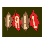 Fall on Leaves Post Card