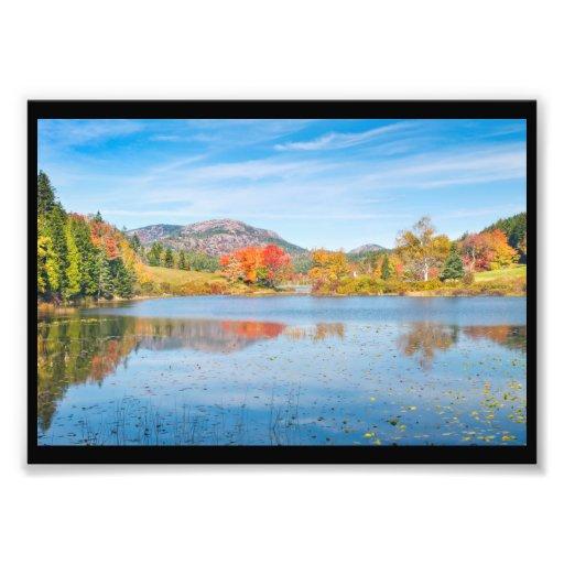 Fall on Long Pond Acadia National Park Maine Photo