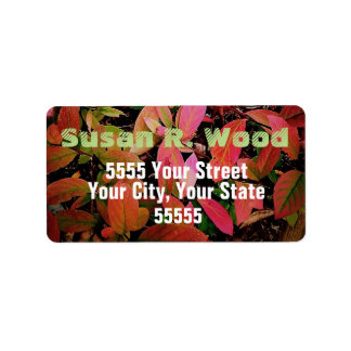 Fall on the Ground Address Labels