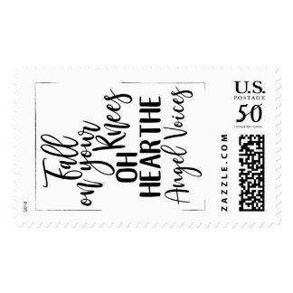Fall on your knees for JESUS CHRIST Postage