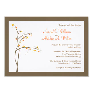 Fall or Autumn Wedding Invitation