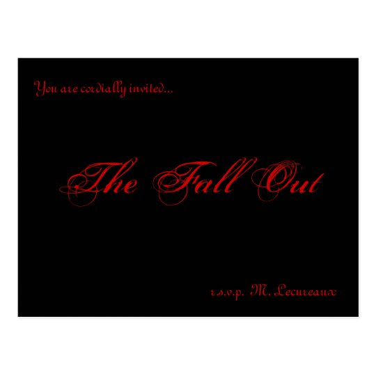 Fall Out invitations
