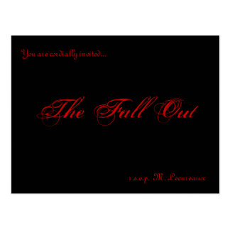 Fall Out invitations Postcard