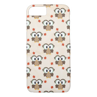 Fall Owl and Maple Leaf iPhone 8/7 Case