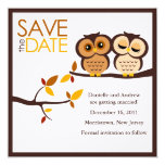 Fall Owls Save the Date Invitations
