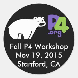 Fall P4.org Workshop Round Classic Round Sticker