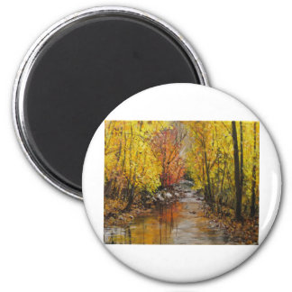 Fall Painting 2 Inch Round Magnet