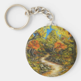 Fall Painting called Fall Healing Keychain