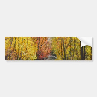 Fall Painting Car Bumper Sticker