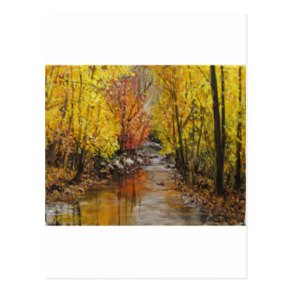 Fall Painting Postcard