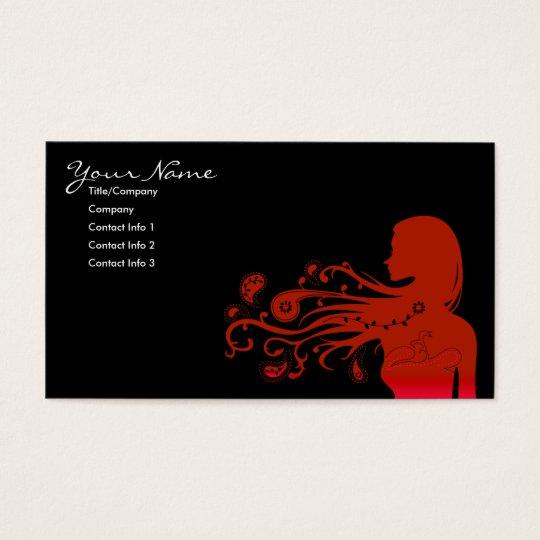 fall paisley business card