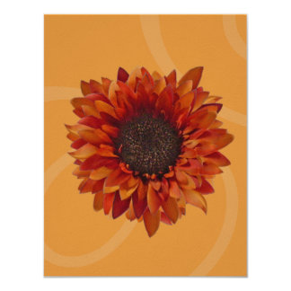 Fall Party Invitation - Orange Sunflower