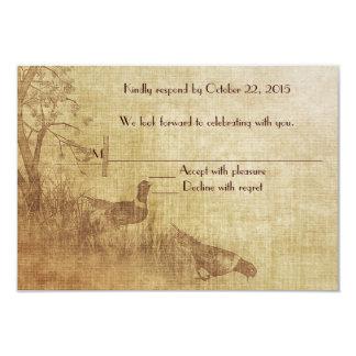 Fall Pheasant RSVP Card
