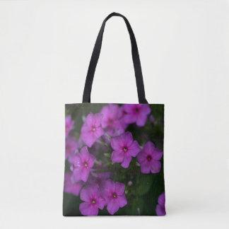 Fall Phlox Pink Wildflower Floral Tote Bag