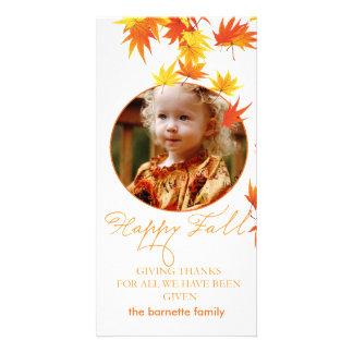Fall Custom Photo Card
