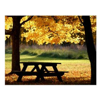 Fall picnic postcard