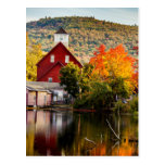 Fall Picture Grist Mill Ashland New Hampshire Postcard