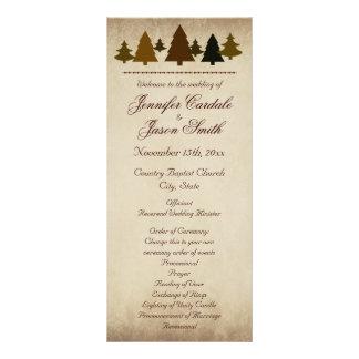 Fall Pine Trees Autumn Wedding Programs Rack Card
