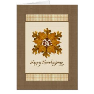 Fall Pinwheel Thanksgiving Card