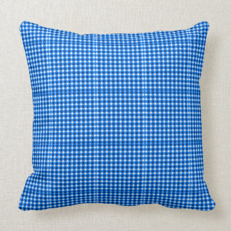 Fall-Plaids-Blue-Stars-Accents-Fabric's-Pillows Throw Pillow