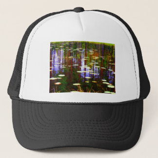 Fall pond trucker hat