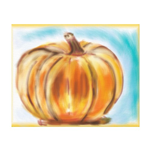 'Fall Pumpkin' Premium Canvas (Gloss) - pumpkin wall decor