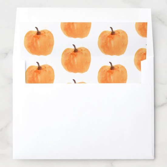 Fall Pumpkin Autumn Envelope Liner
