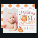 "Fall Pumpkin Autumn First Birthday Invitation<br><div class=""desc"">Fall Pumpkin Autumn First Birthday Invitation</div>"
