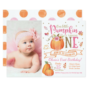 1st birthday invitations zazzle fall pumpkin autumn first birthday invitation filmwisefo