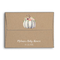 Fall Pumpkin Baby Shower Envelope