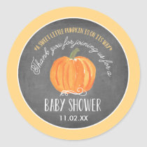 Fall Pumpkin | Baby Shower Favor Label Stickers