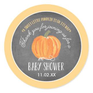 Fall Pumpkin   Baby Shower Favor Label Stickers