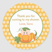 Fall Pumpkin | Baby Shower Favor Sticker