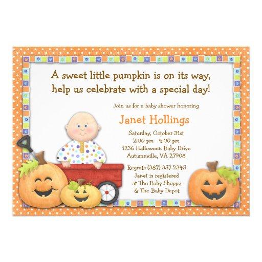 fall pumpkin baby shower invitation zazzle