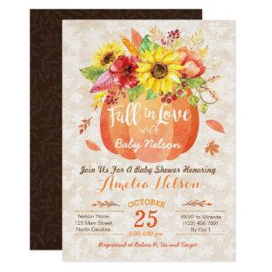 Fall baby shower invitations zazzle fall pumpkin baby shower invitation filmwisefo