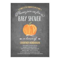Fall Pumpkin | Baby Shower Invitation
