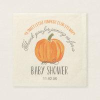 Fall Pumpkin | Baby Shower Napkin